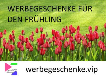 Werbegechenke für den Frühling